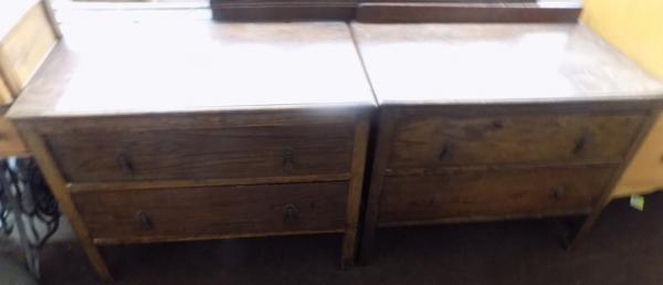 Pair of 2 drawer chest of drawers