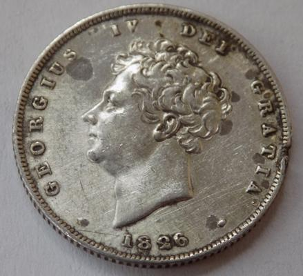 1826 one Shilling coin