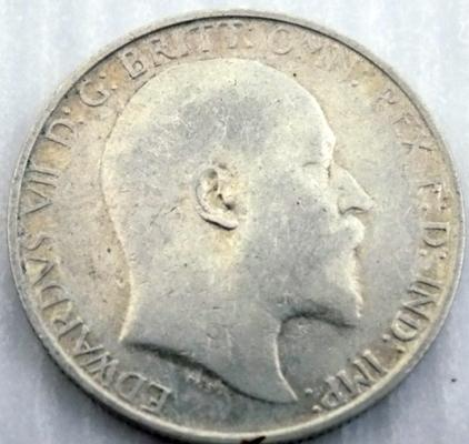 1907 two Shilling coin