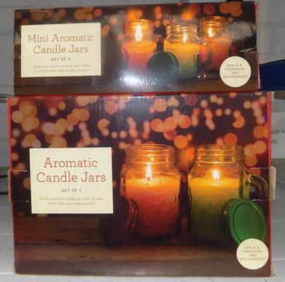 2x New aromatic candle sets