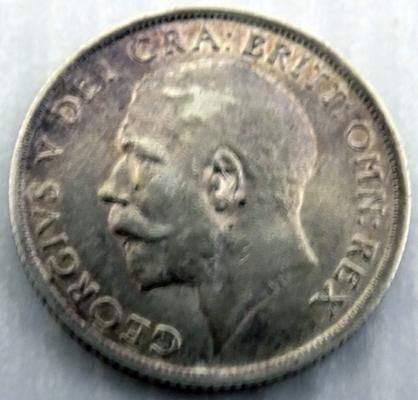 1915 one Shilling coin