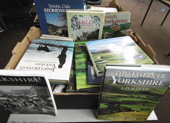 Box of books - Yorkshire Dales, incl. James Herriot