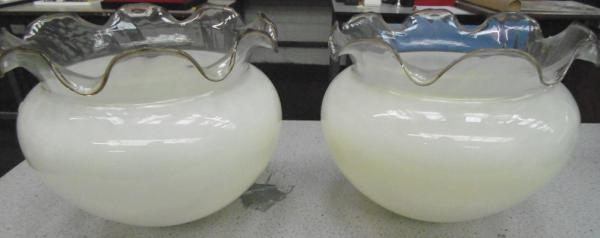 2x Glass lamp shades