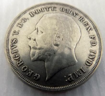 1935 five Shilling coin