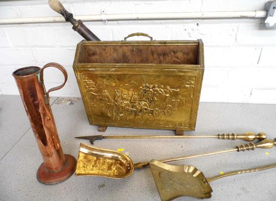 Collection of brassware & copper