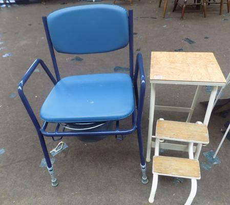 Mobility chair + step ladder