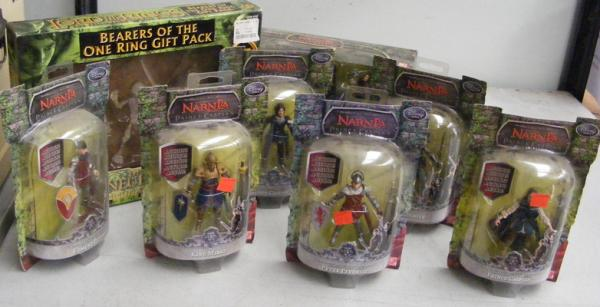 Selection of sealed Narnia & Lord of the Rings action figures