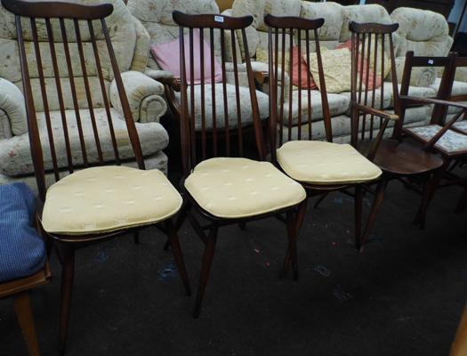 4 Ercol high back chairs