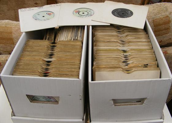 Two boxes of 7 inch singles, incl Motown etc...