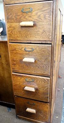 Industrial filing cabinet (requires board on one side)