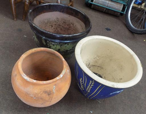 3 Planters-various sizes