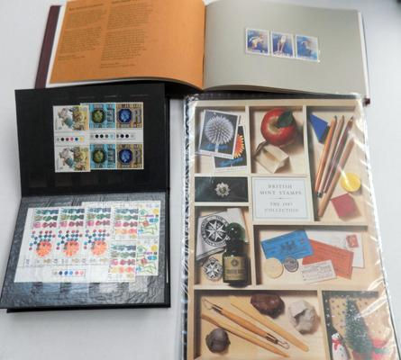 Assortment of British stamps + Olympic stamp souvenir collection - Canada 1976