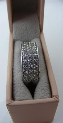 925 Silver ladies band approx size N
