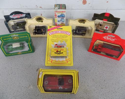 9 x various diecast cars etc..., all boxed