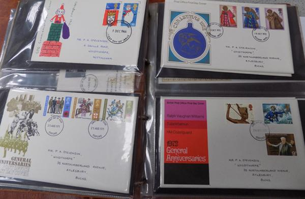 Post Office first day covers in album