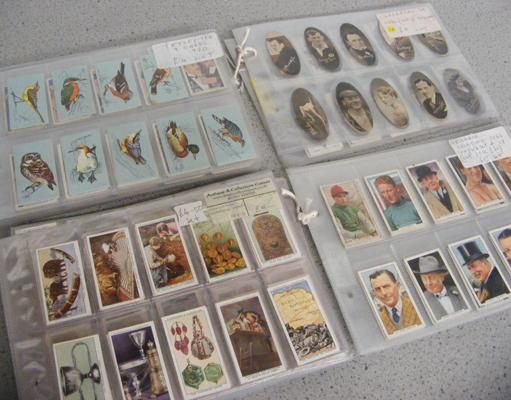 Large collection 60 sheets of cigarette cards inc many full sets inc Carreras popular personalities