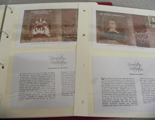 Revolution of Restoration Commemorative stamp first day covers + mint GB pre decimal stamps