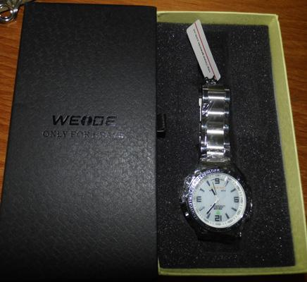 Weide digital watch with stainless strap