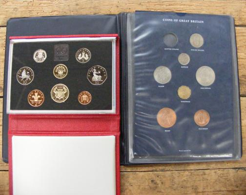 Royal mint 1986 + pre decimal coins of Great Britain minus Scottish shilling