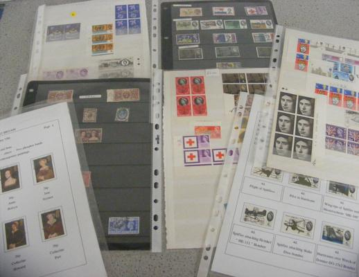 Collection of GB stamps inc mint pre decimal books