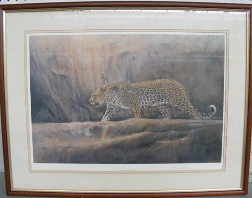 Limited Edition leopard print, signed by artist 44/750