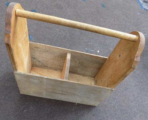 Amish style wooden tool box/planter - 19 inches tall