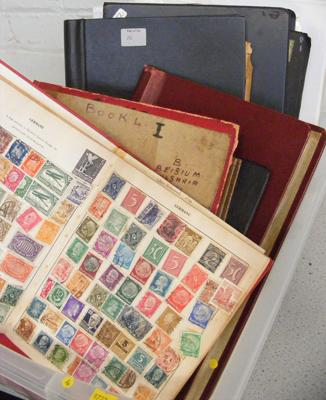 Large assortment of stamp albums + folders