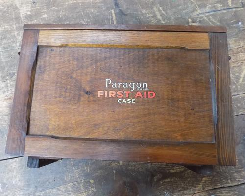 Vintage Paragon wooden First Aid kit to 1937 specification