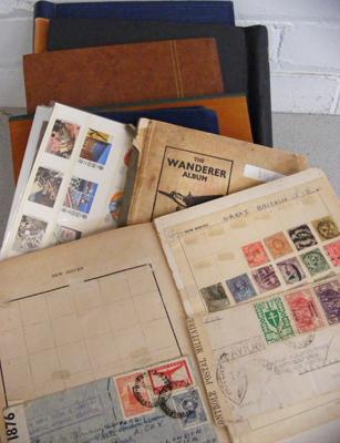 Box of 7 stamp albums