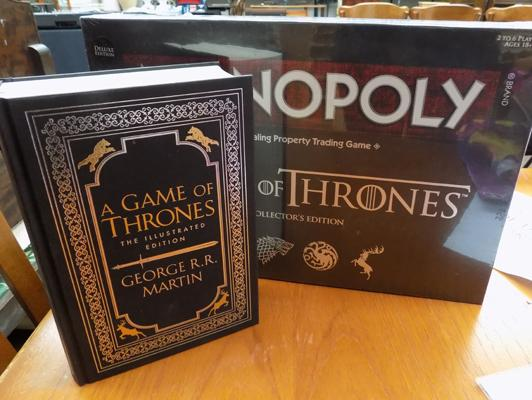 Game of Thrones Monopoly + book