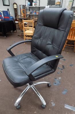Office chair, swivel, leather