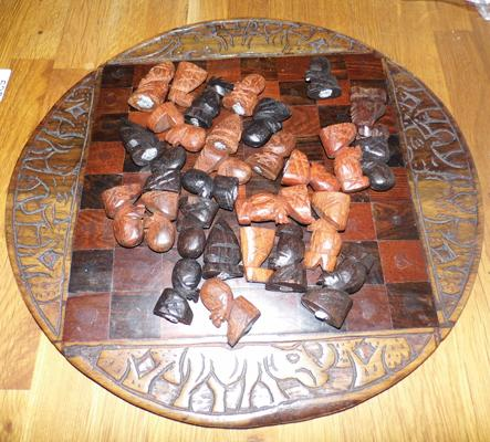Hand made chess set - unchecked
