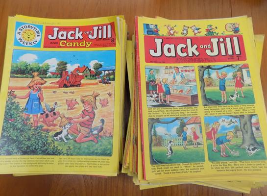 Selection of vintage Jack & Jill comics from late 1960's, early 1970's