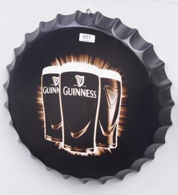 16 inch tinplate Guinness sign