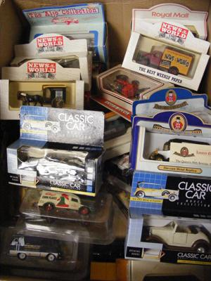 Selection of boxed cars