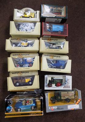 12 boxed collectable toy cars & lorries, incl. Corgi & Matchbox