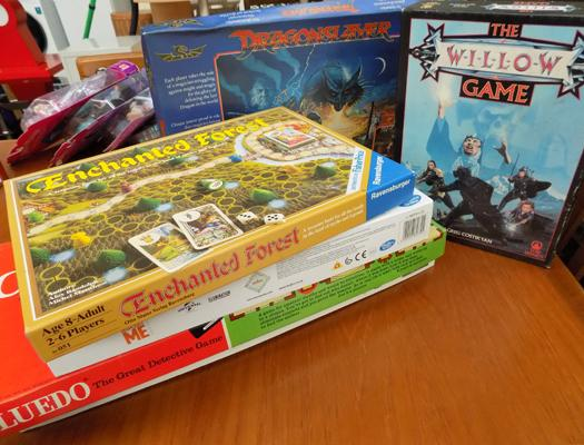 Assortment of board games incl : Willow and Monopoly