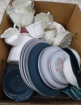 Box of ceramics, incl. Shelly & Poole