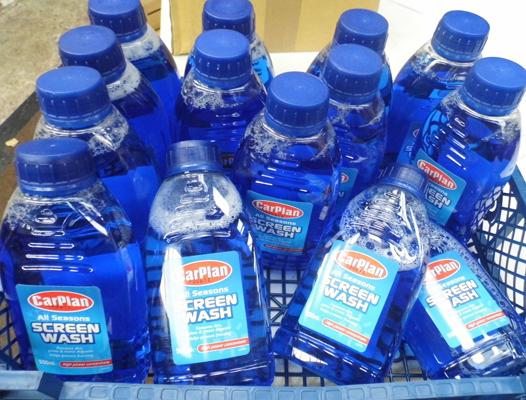 14 bottles of concentrated screen wash