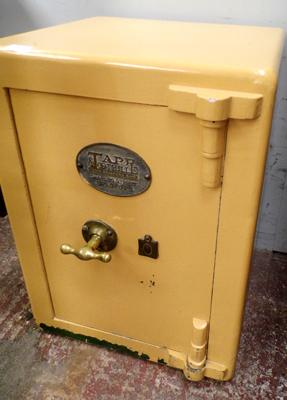 Tap & Toothill of Bradford safe, with key (in office)