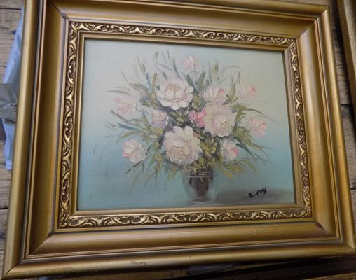 Framed oil on canvas signed R Cox