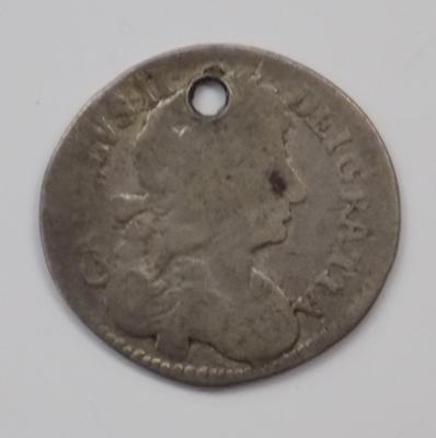 Charles II small silver Maundy coin