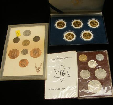 3x Coin collections in cases