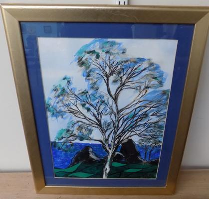 Tree of life picture in acrylic. Artist Philip Green-signed