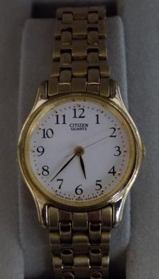 Boxed citizen gold plated ladies cocktail watch