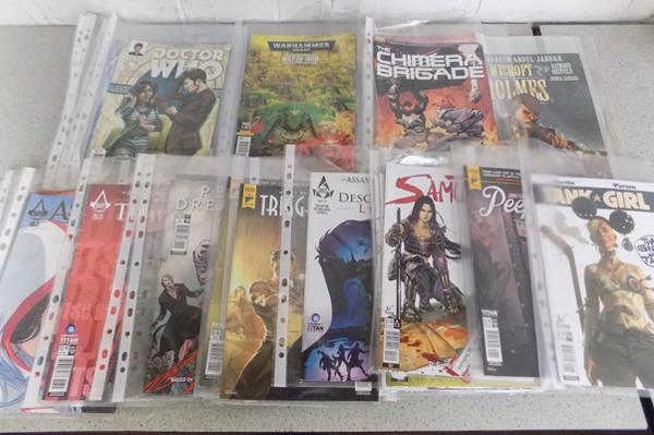 30x Titan comics - some no.1 - incl. Samurai, Assassins Creed, Warhammer, Tank Girl, Peepland, Dr Who, Holmes, Penny Dreadful