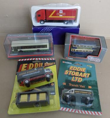 Selection of Corgi diecast - Eddie Stobart buses and Royal Mail