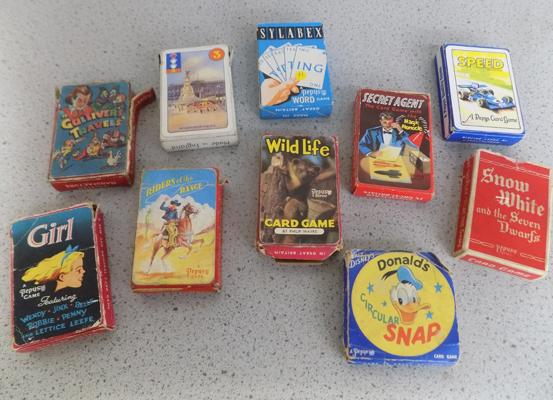 Collection of 10 packs of 1950's card games