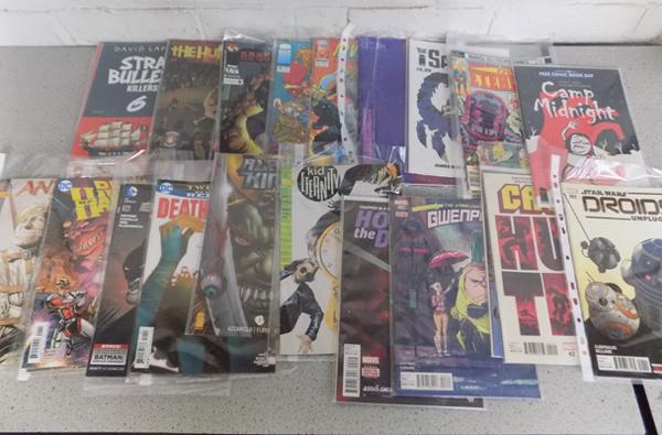 26x DC/ Marvel/ image comics - some no.1 - incl. Batman, Hawkman, Wasteland, Camp Midnight, Stray Bullets, Humans etc.