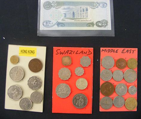 Collection of coins from Hong Kong, Swaziland & the Middle East